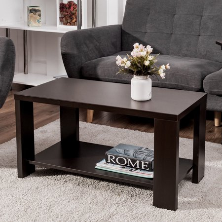 Country Style Living Room Furniture (Costway Coffee Table Rectangular Cocktail Table Living Room Furniture )