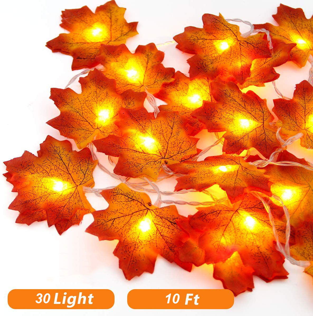 3m Led Maple Leaf String Lights With 30 Led Battery Operated Indoor Outdoor Fairy Lights Fall Garland String Lights Decorative Lights For Home Patio Party Thanksgiving Christmas Walmart Canada