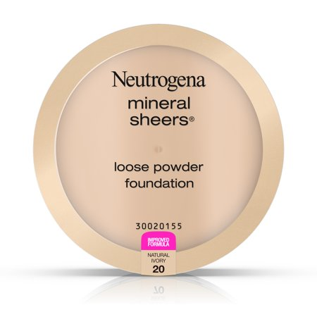 Sheer Finish Compact Foundation - Neutrogena Mineral Sheers Loose Powder Foundation 20, Natural Ivory 20,.19 Oz.