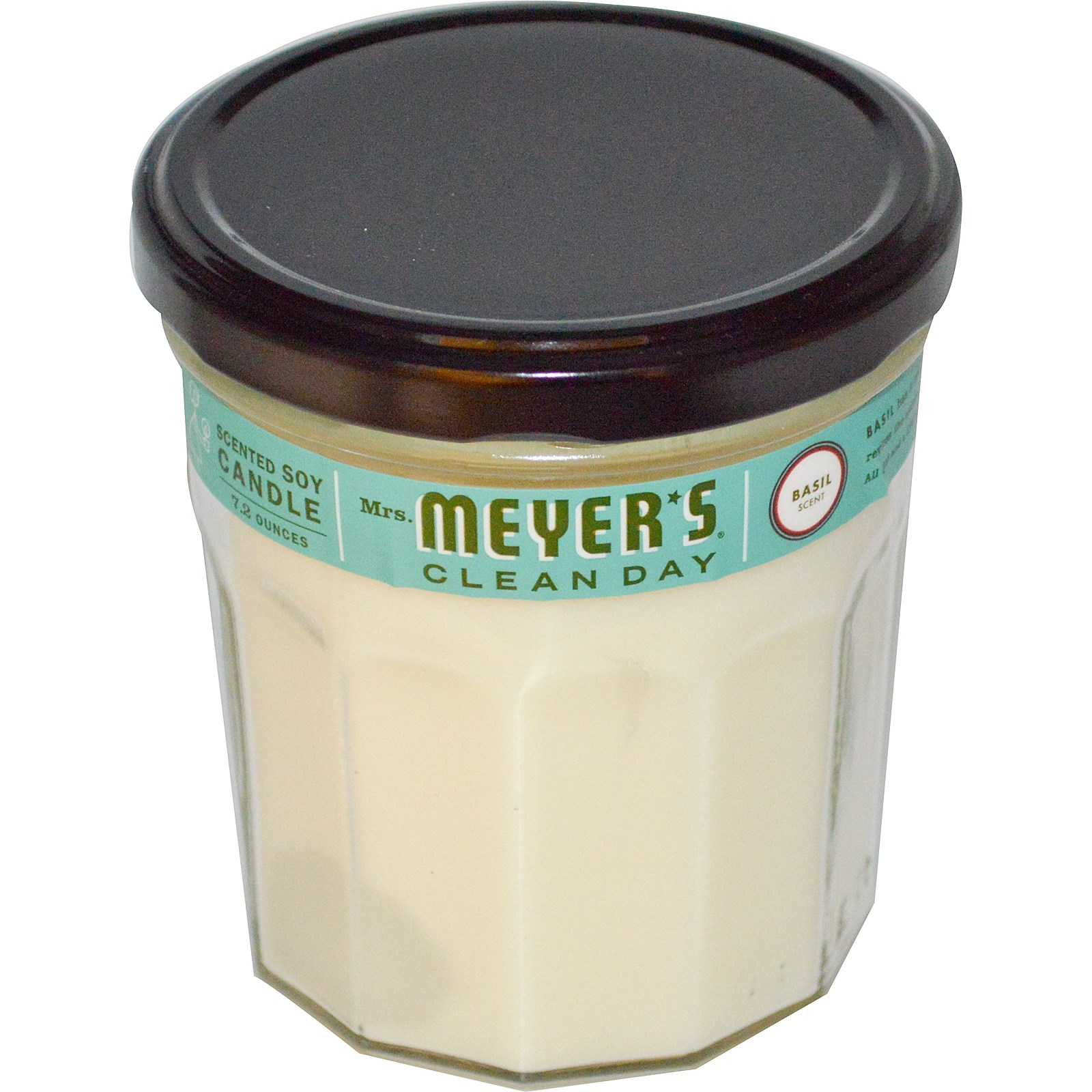 Mrs. Meyers Clean Day, Scented Soy Candle, Basil Scent, 7.2 oz(pack of 1)
