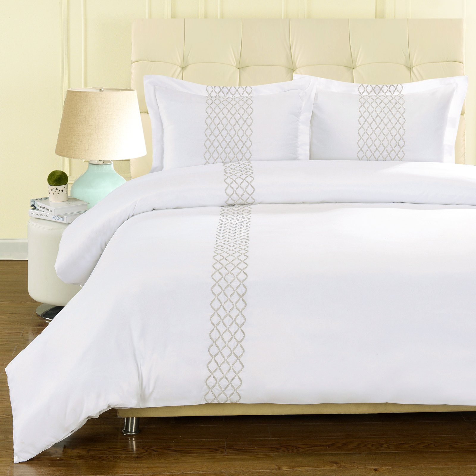 Superior Hannah Brushed Microfiber Wrinkle Resistant Duvet Cover Set