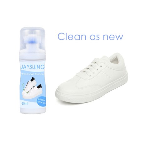 CARLTON GLOBAL Sports Leather Canvas Whitener Cleaner 50ml Shoe Clean White with Brush (Best Way To Clean Leather Shoes)