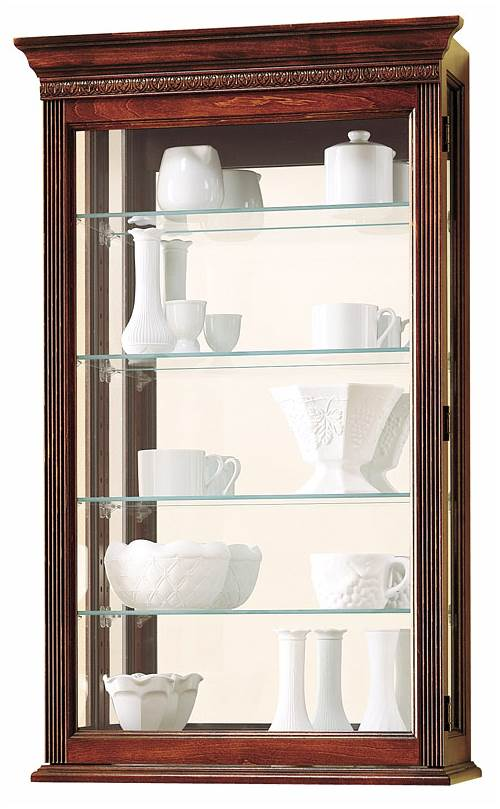 Edmonton Acanthus Leaf Wall Curio Cabinet by Howard Miller