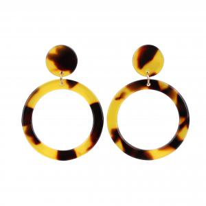 Fancyleo European and American style exaggerated big ring retro earrings sexy earrings