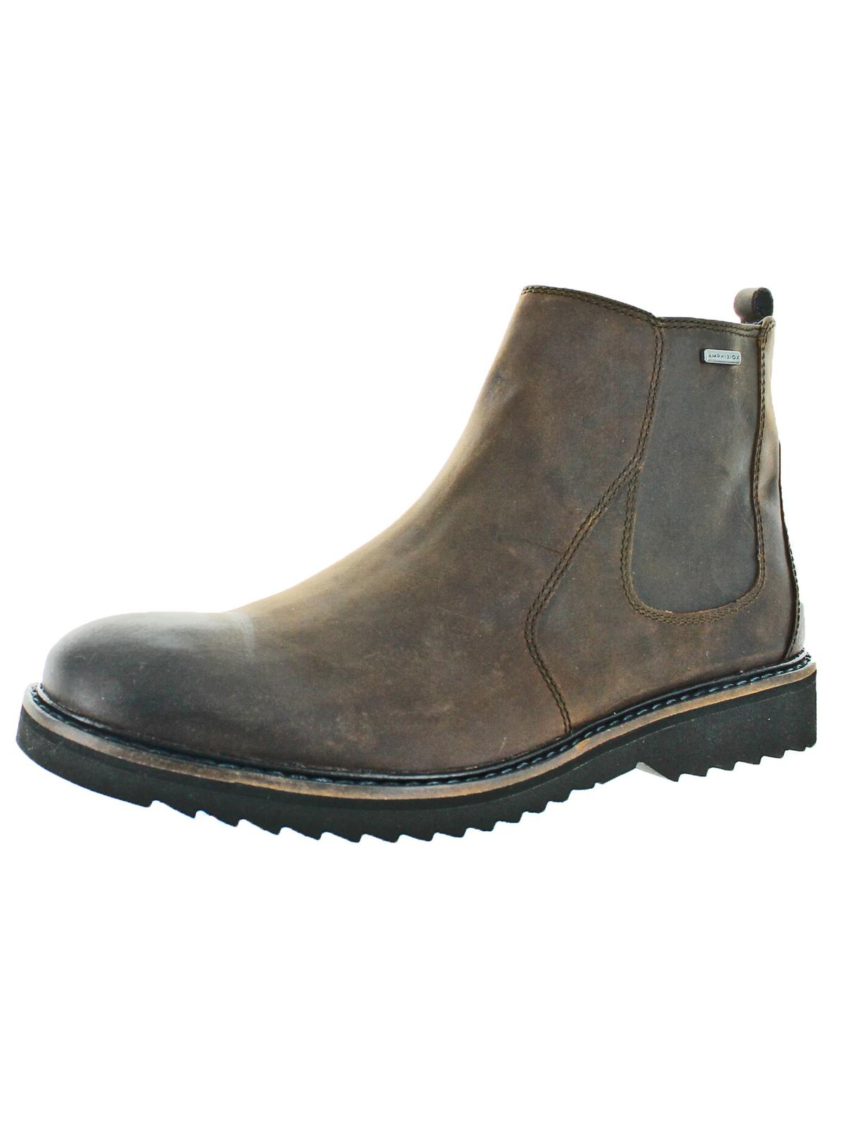 Geox Mens Chester Amphibiox Leather Waterproof Chelsea Boots