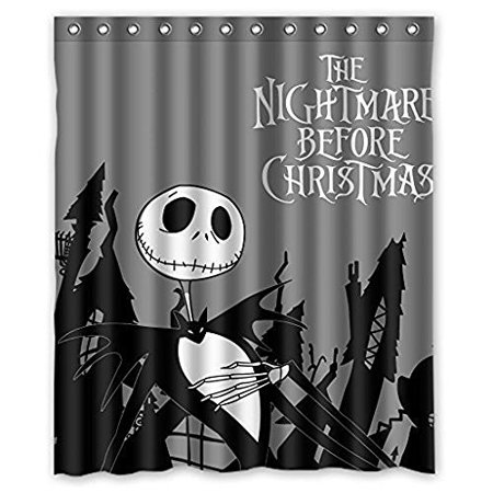 Ganma Bear Babynew Nightmare Before Christmas Shower Curtain Polyester Fabric Bathroom 66x72 Inches