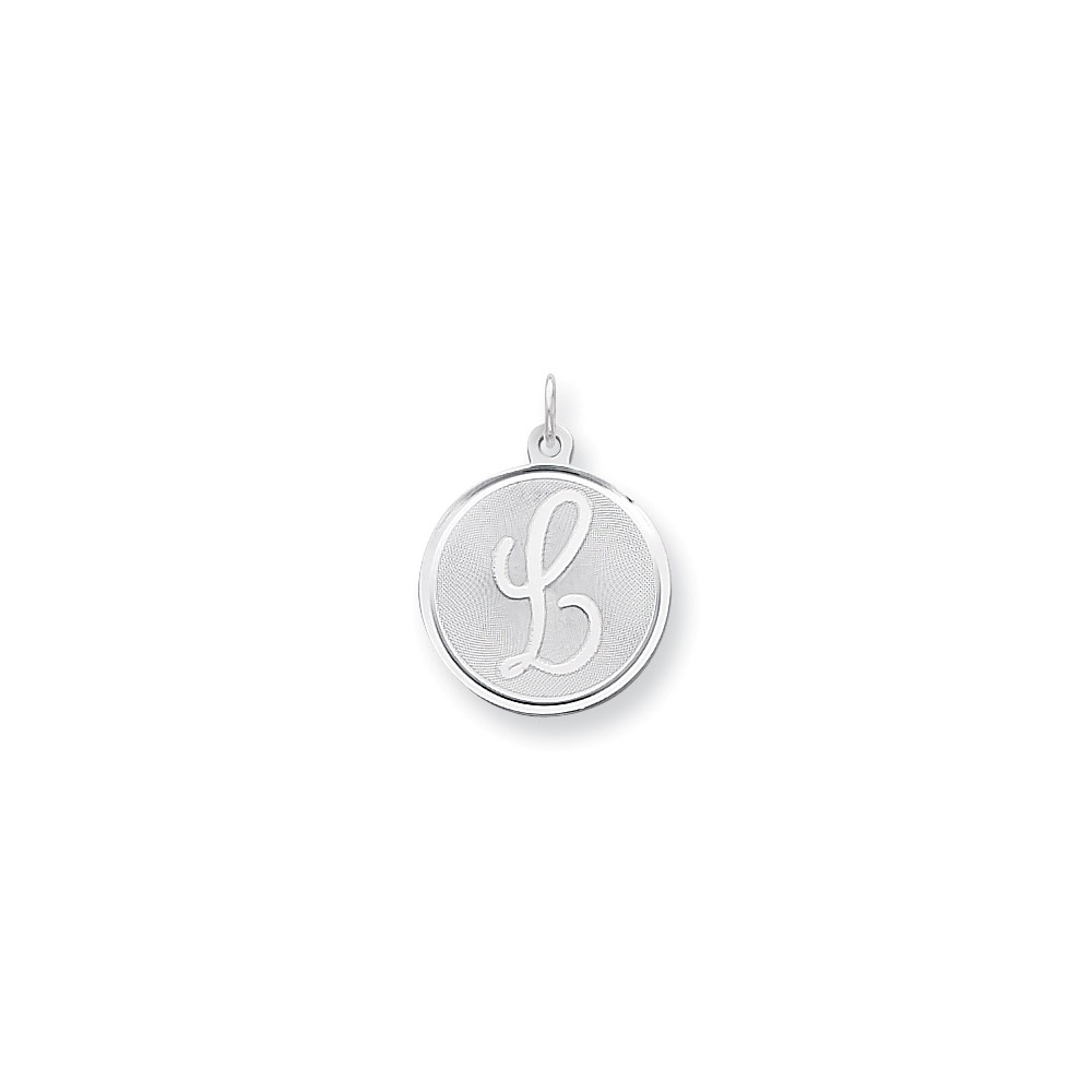 Sterling Silver Engravable Brocaded Initial L