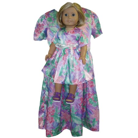 Matching Girls and Doll Clothes Size 5 Satin Dress - Clothes And Dresses