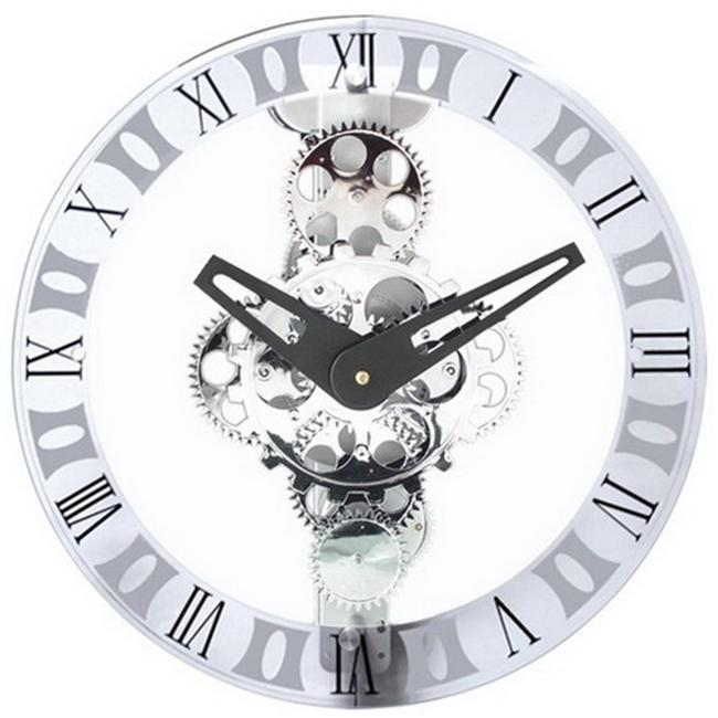 Moving-Gear Wall Clock - With Glass Cover - image 1 de 1