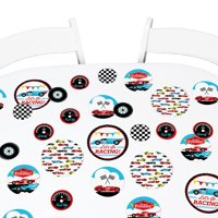 Let's Go Racing - Racecar - Baby Shower or Race Car Birthday Party Giant Circle Confetti - Party Decor-Confetti 27 Ct