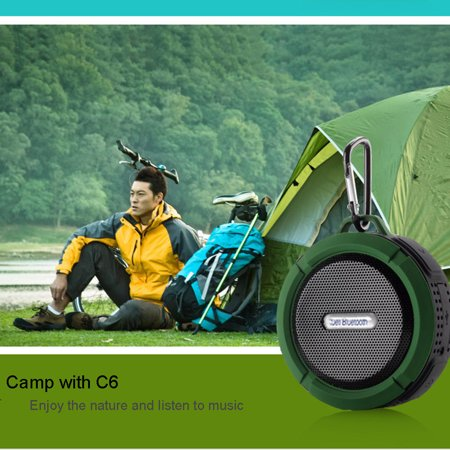 Waterproof Suction Cup Wireless Bluetooth Speaker Three Anti-plug Card Small Stereo Outdoor Portable Hands-free Call