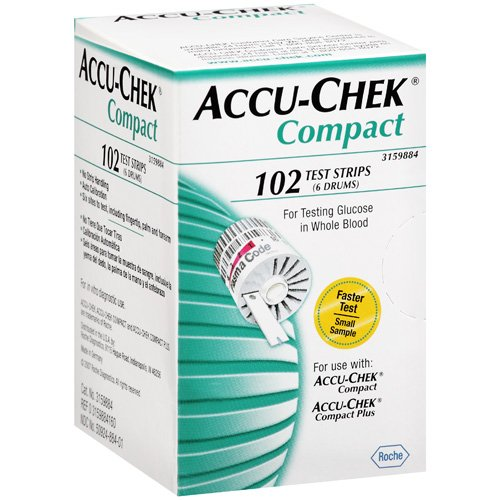 ACCU-CHEK CompactPlus Blood Glucose Test Strips 102ct