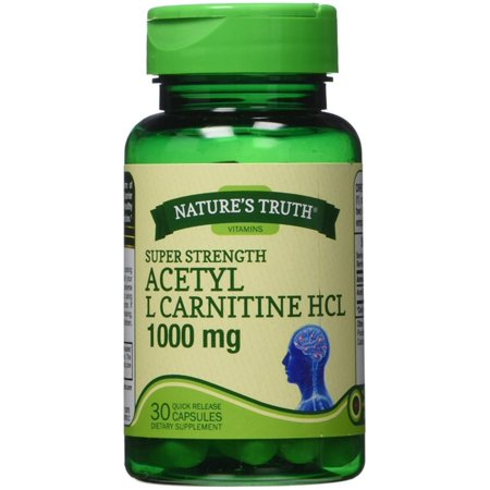 Nature's Truth Acetyl L Carnitine HCl 1000 MG Capsules, 30 (Solgar Acetyl L Carnitine 1000 Mg 30 Tablets)