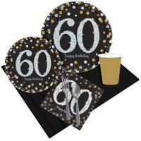 Sparkling Celebration 60th Birthday Party Pack for 8