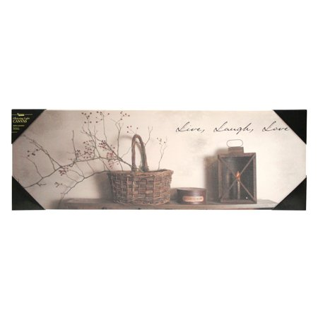 Kennedys Country Collection 71359   10  X 30  X 3 4     Live Laugh Love  Battery Operated Led Lighted Canvas  Batteries Not Included