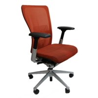 Haworth Zody Chair Mesh Back Fully Adjustable Model in Orange, Executive Office Chair