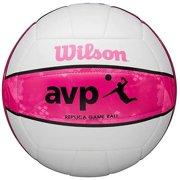Wilson AVP Recreational Series Replica Game Ball Beach Volleyball - White/Pink