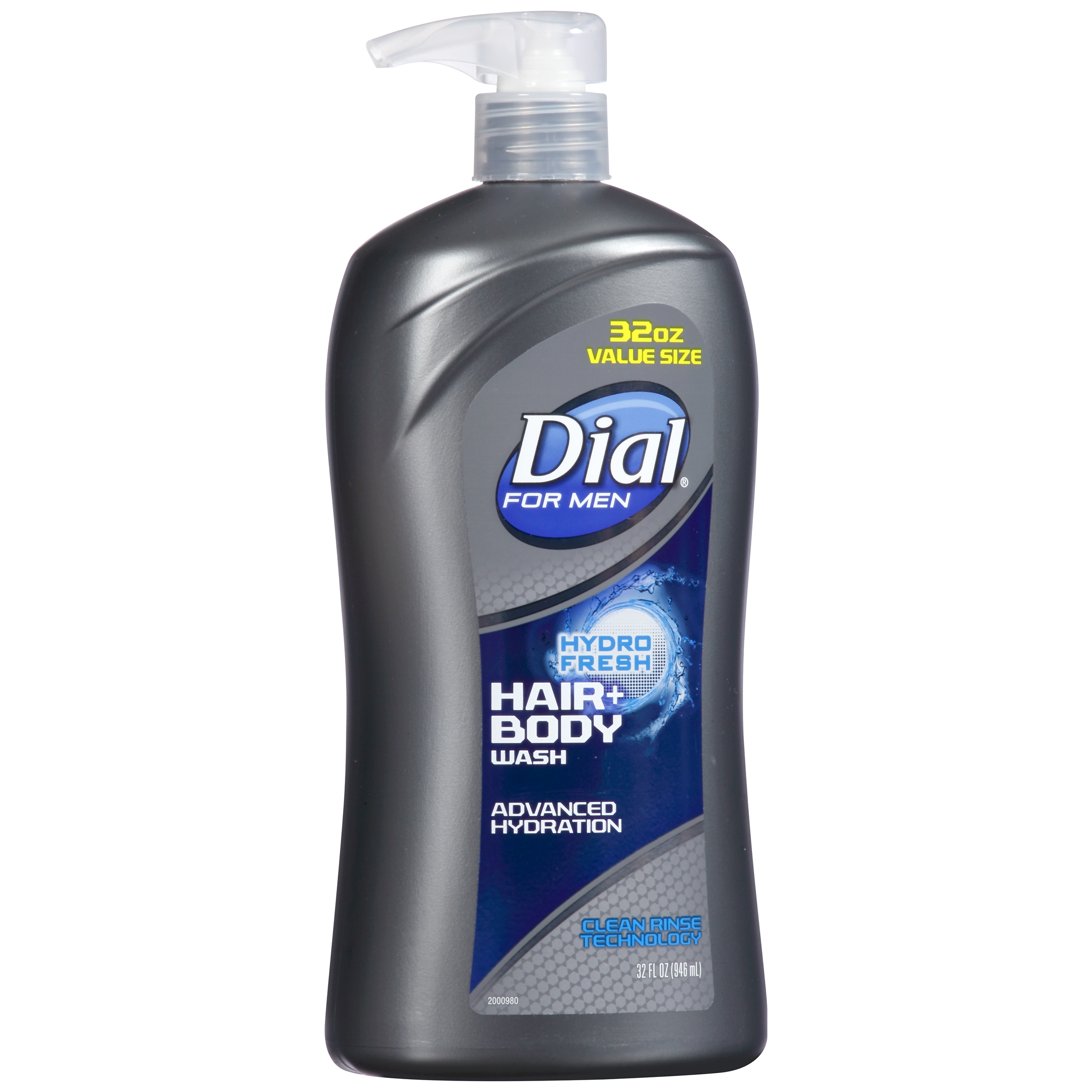 Dial For Men Hydro Fresh Hair+ Body Wash 32 fl. oz. Bottle by The Dial Corporation, a Henkel Company