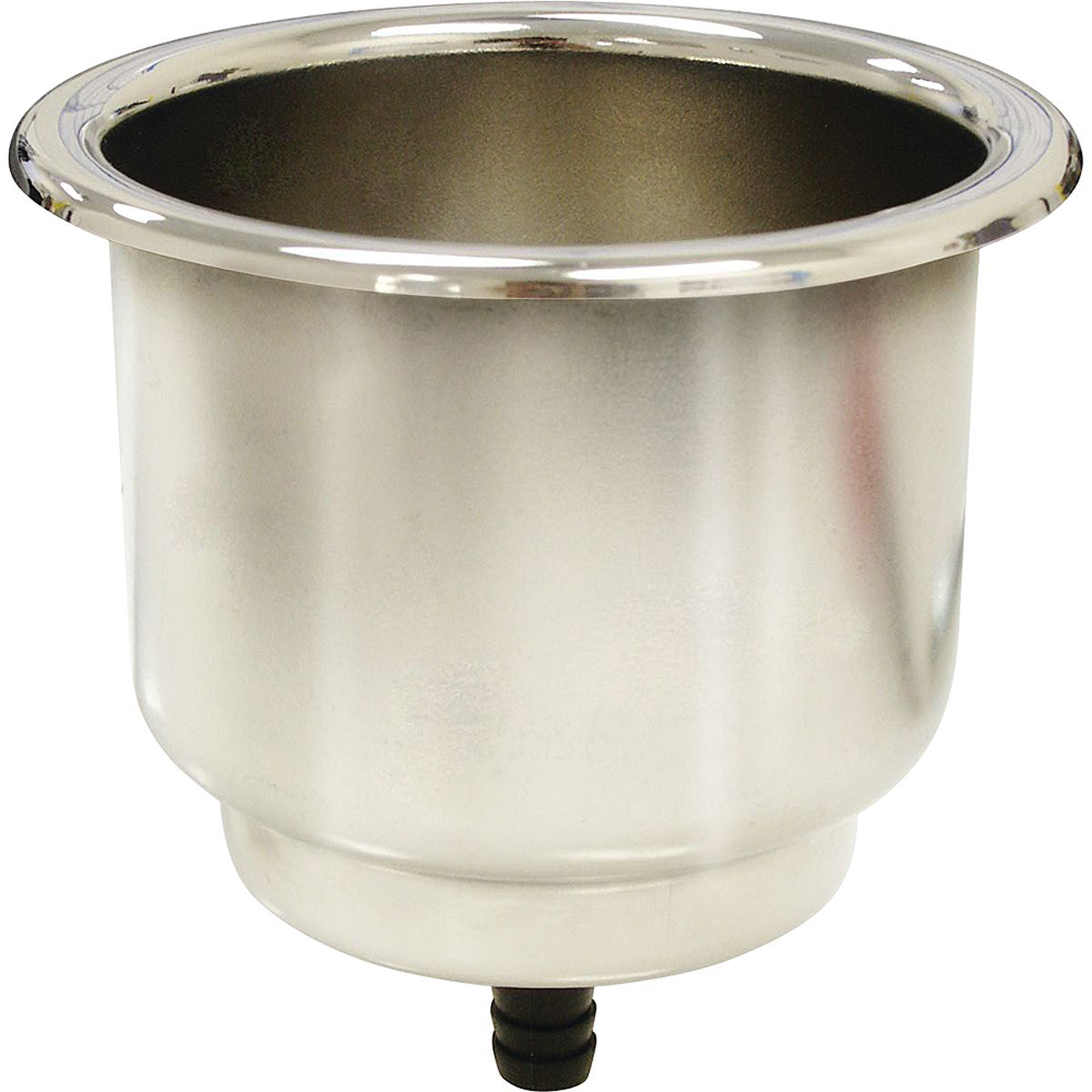 SeaSense Stainless Steel Recessed Cup Holder with Pad, Gasket and Barb