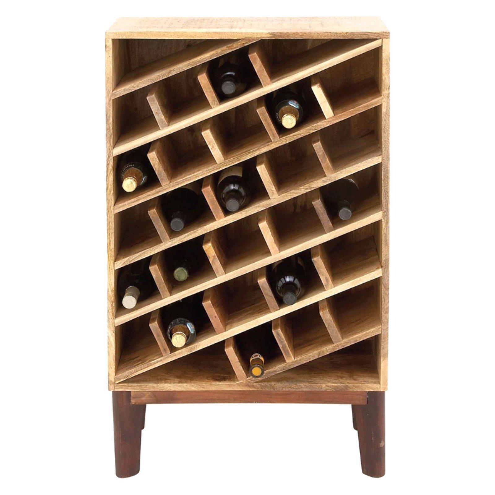 Functional Wood Wine Rack by Benzara