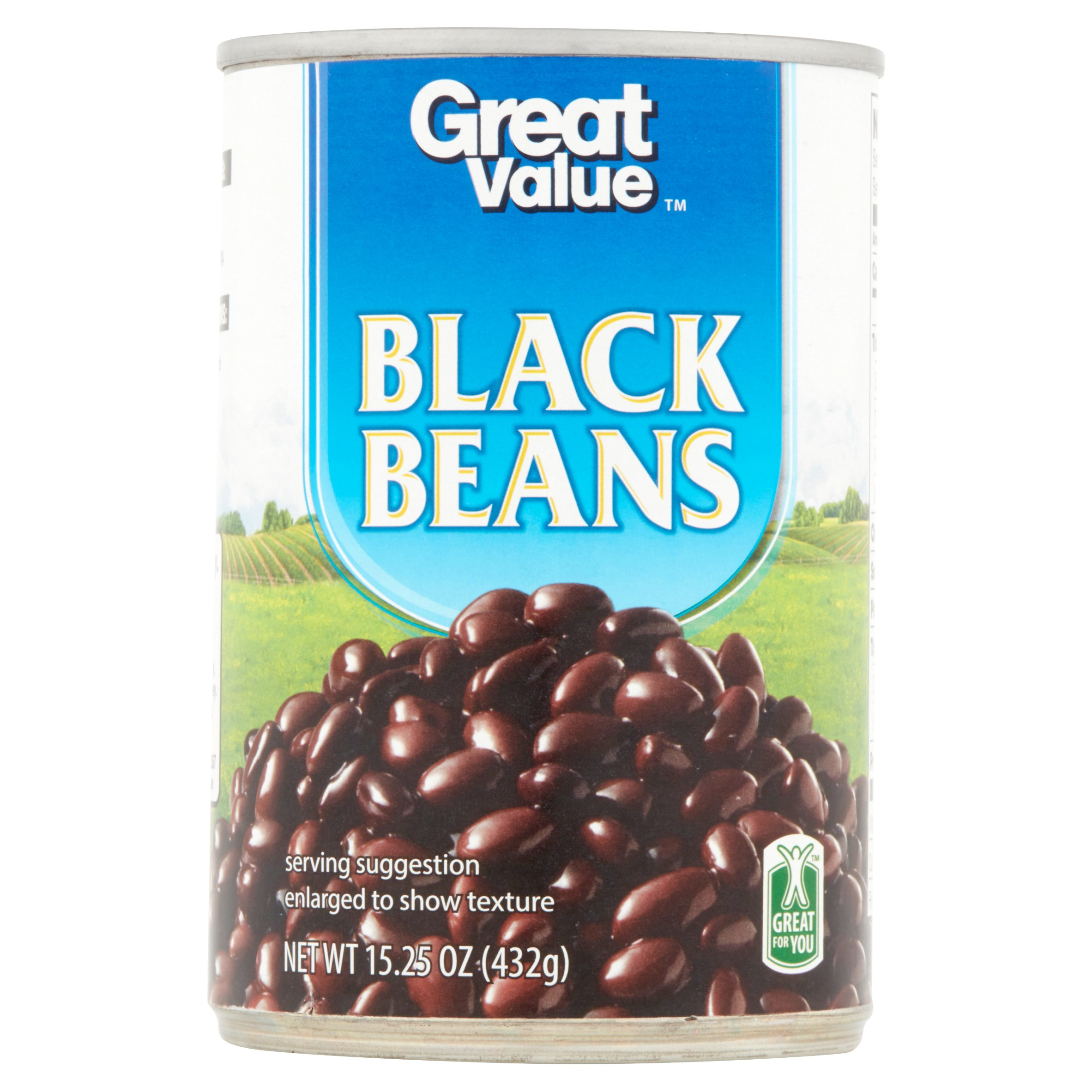 Click here to buy Great Value Black Beans, 15.25 oz by Walmart Stores, Inc..