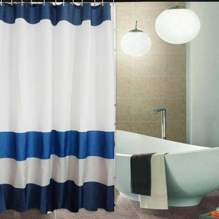 Mildew Free Shower Curtain Waterproof Polyester Anti Bacterial