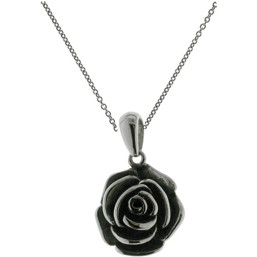Connections from Hallmark Stainless-Steel Rose Pendant, 18-20""