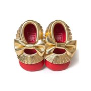 Babula Baby Girl Soft Soled PU Leather Shoes Fit 0-18Month