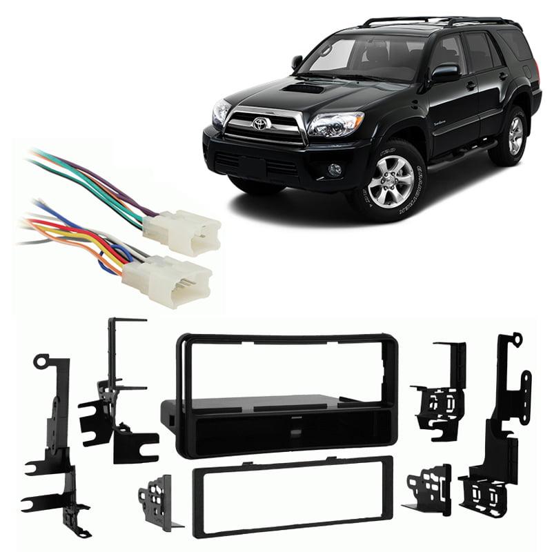 Single DIN Install Car Stereo Radio Dash Kit w// Pocket 2003-2009 Toyota 4 Runner