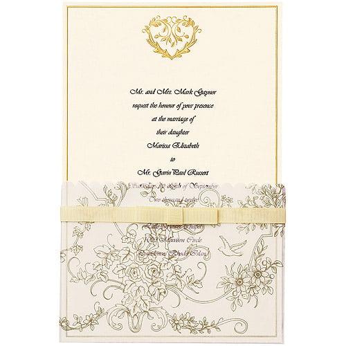 Wedding Toile Invitation (Gold) Kit