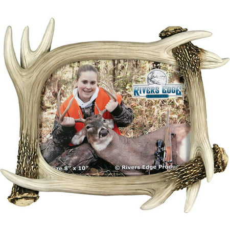 Rivers Edge Products 8 X 10 Deer Antler Picture Frame Walmartcom
