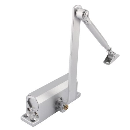 YOSOO 60-80kg Heavy Duty Aluminum Commercial Door Closer Overhead Fire Rated Door Closer Two Independent Valves Control Sweep for Residential/Commercial Use
