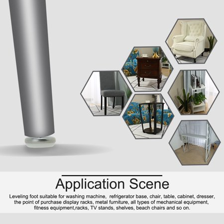 M8 x 25 x 30mm Leveling Feet Adjustable Leveler for Office Furniture Leg 24pcs - image 6 de 7