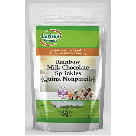 Rainbow Milk Chocolate Sprinkles (Quins, Nonpareils) (4 oz, ZIN: 527037)