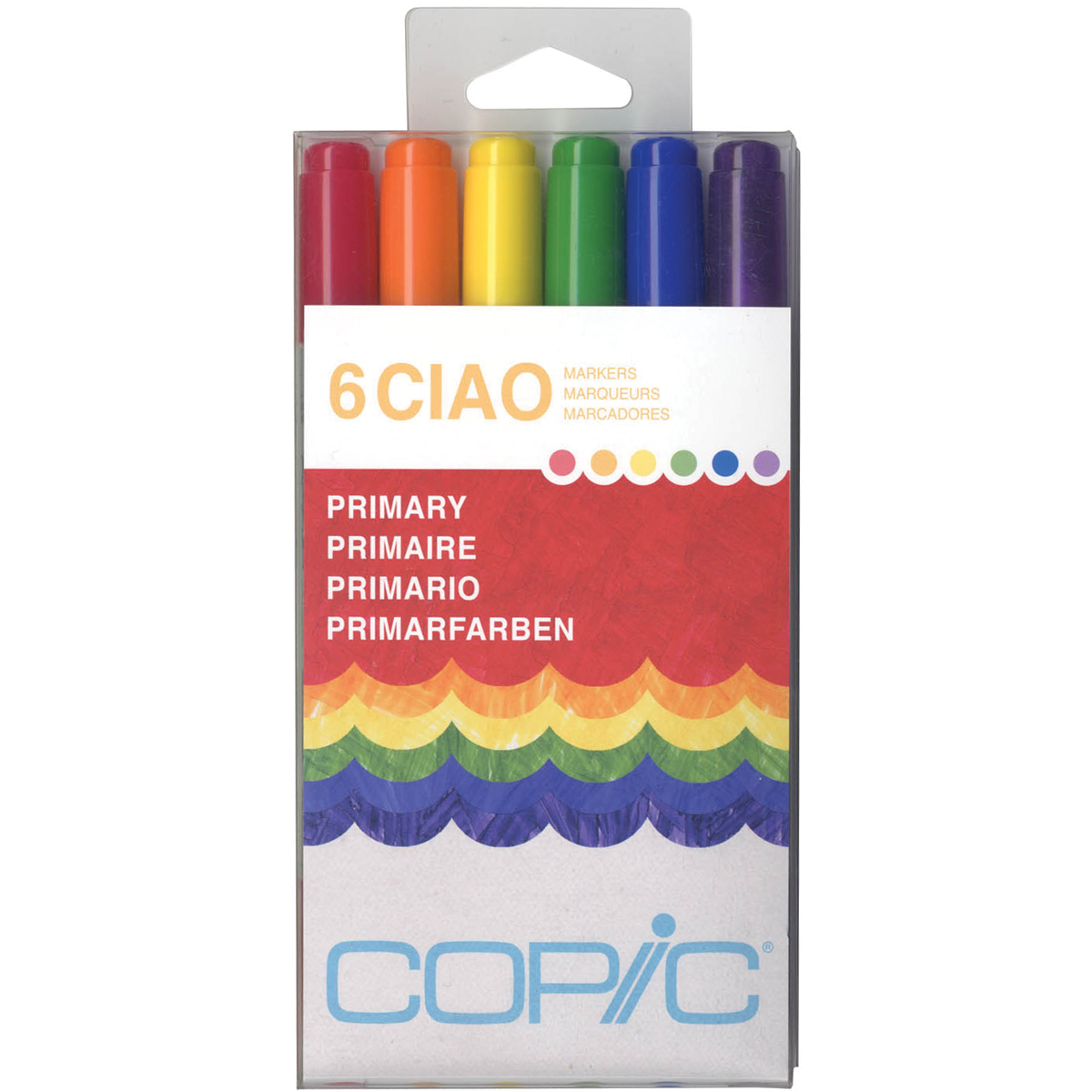 Copic Ciao Markers 6/Pkg-Primary