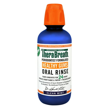 Therabreath Advanced Perio Therapy Oral Gums Rinse Mouthwash, 16OZ (Zymox Medicated Rinse)