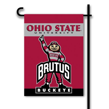 Bsi Products Inc Ohio State Buckeyes 2 Sided Garden Flag Garden Flag