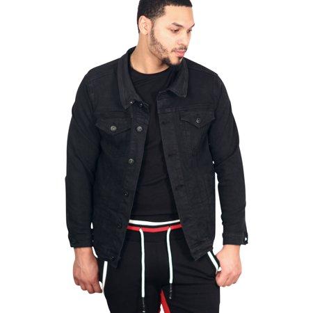BLEECKER & MERCER Washed Denim Jacket Black