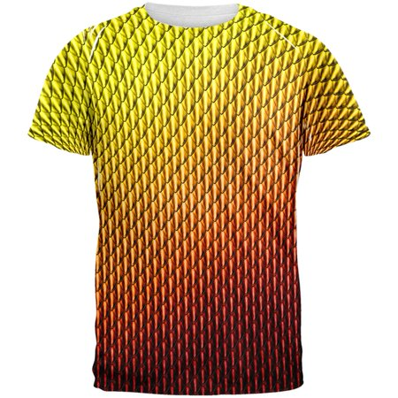 Halloween Red Fire Dragon Scales Costume All Over Mens T Shirt - Mens Dragon Costume