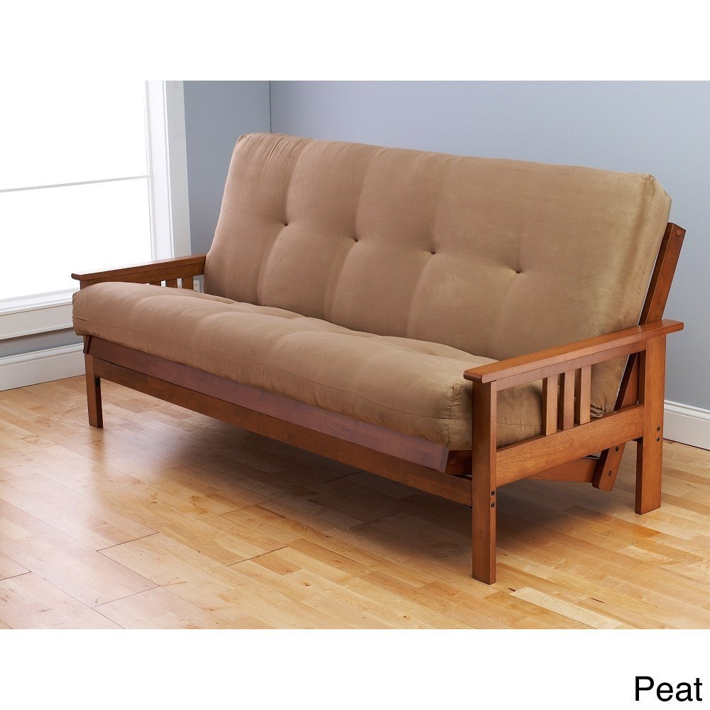 Somette Multi-flex Full-size Futon Frame and Innerspring Peat Mattress Set