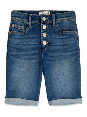 Jordache Girls 5-18 Rolled Cuff Denim Jean Bermuda Shorts