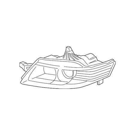 Genuine OE Acura Composite Headlamp 33151-SEP-A11