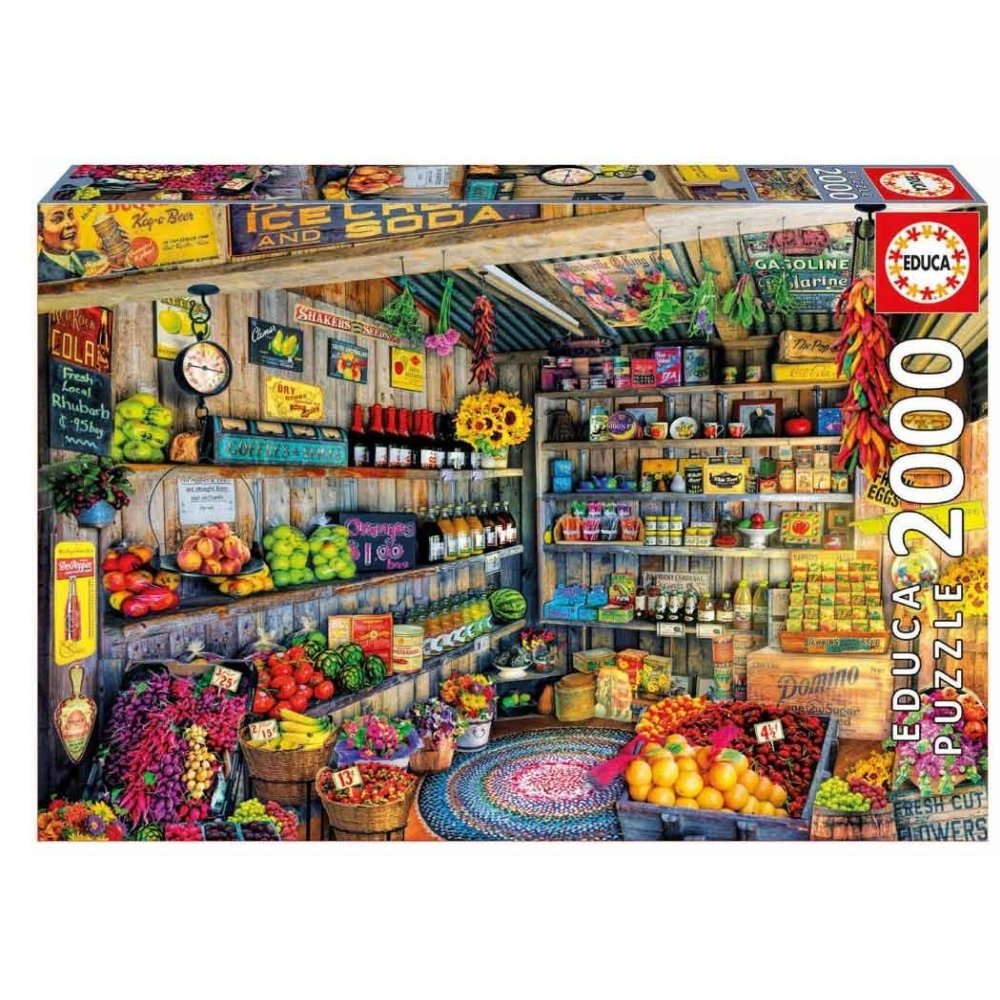 Farmers Market 2000 Piece Puzzle,  More Folk Art by John N. Hansen Co.