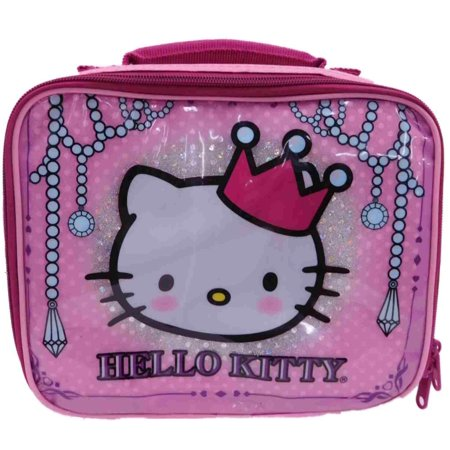 Hello Kitty Insulated Lunch Box Pink Crown & Sparkle Soft Lunch Bag