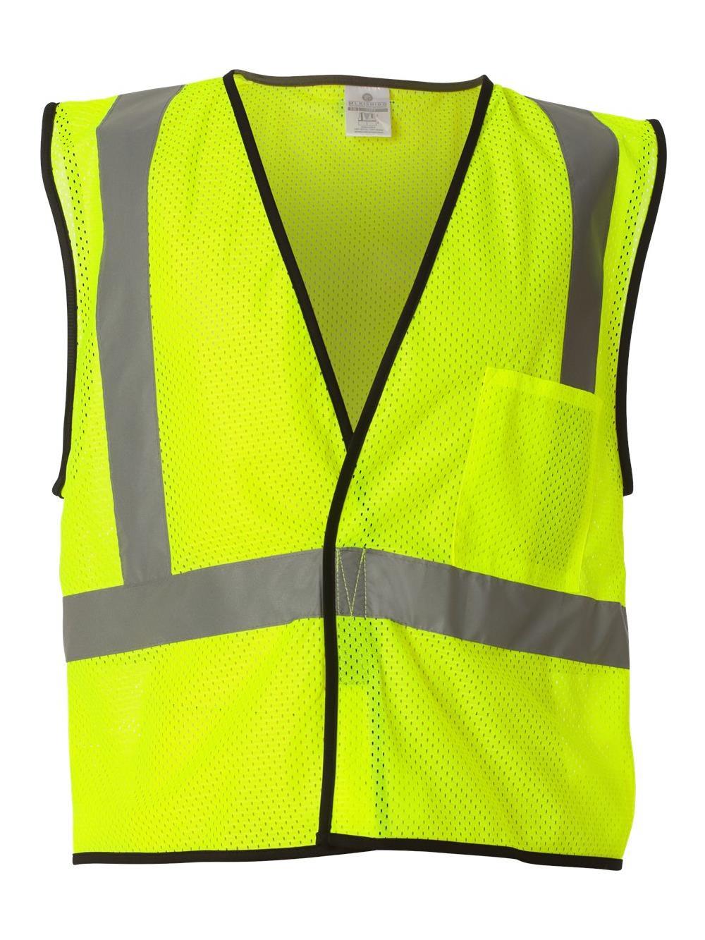 ML Kishigo Workwear Economy One Pocket Mesh Vest 1193-1194