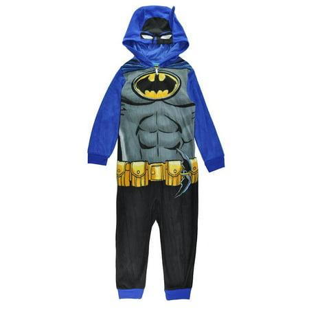 LEGO Batman Boys' Hooded Pajama Onesie Union Suit