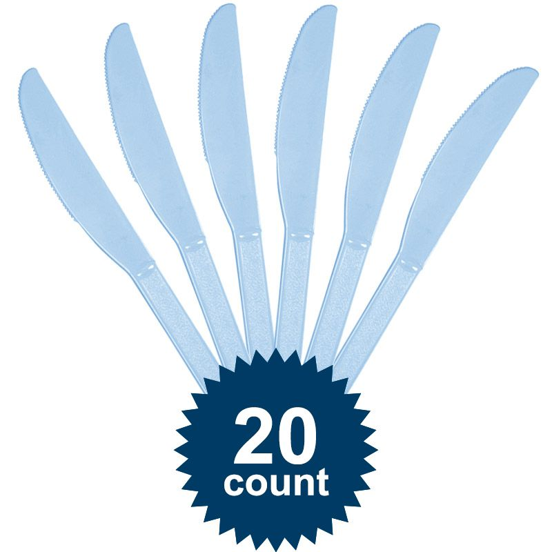 Light Blue Plastic Knives - Party Supplies
