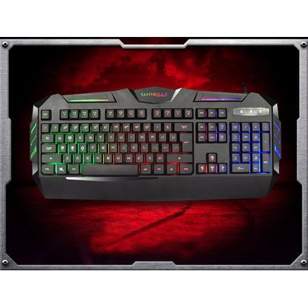K3 USB Wired Illuminated Colorful LED Backlight Multimedia PC Gaming Keyboard