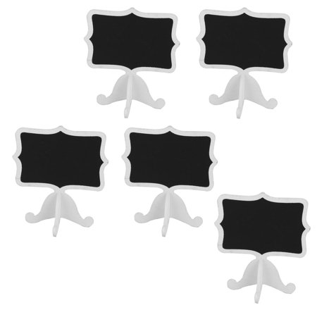 Party Wooden Message Memo Standing Decor Chalkboard Blackboard White Black 5pcs](Chalkboard Decor)