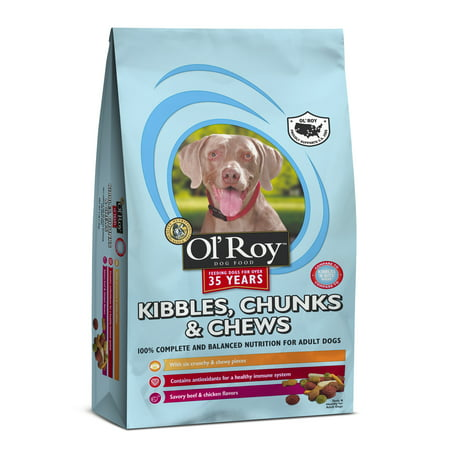 Olroy Kibbles  Chunks   Chews Dog Food 15Lbs